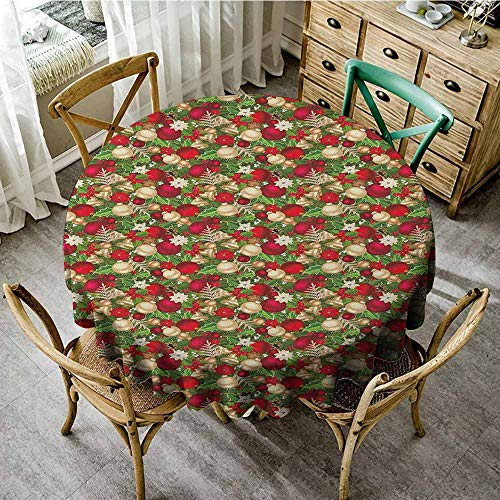 (Round Outdoor Round Tablecloth with 55