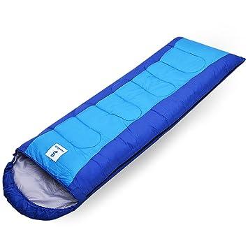 HM&DX Saco de Dormir Camping Adulto,Rectangular 4-Seasons Impermeable Algodón Bolsa de Dormir