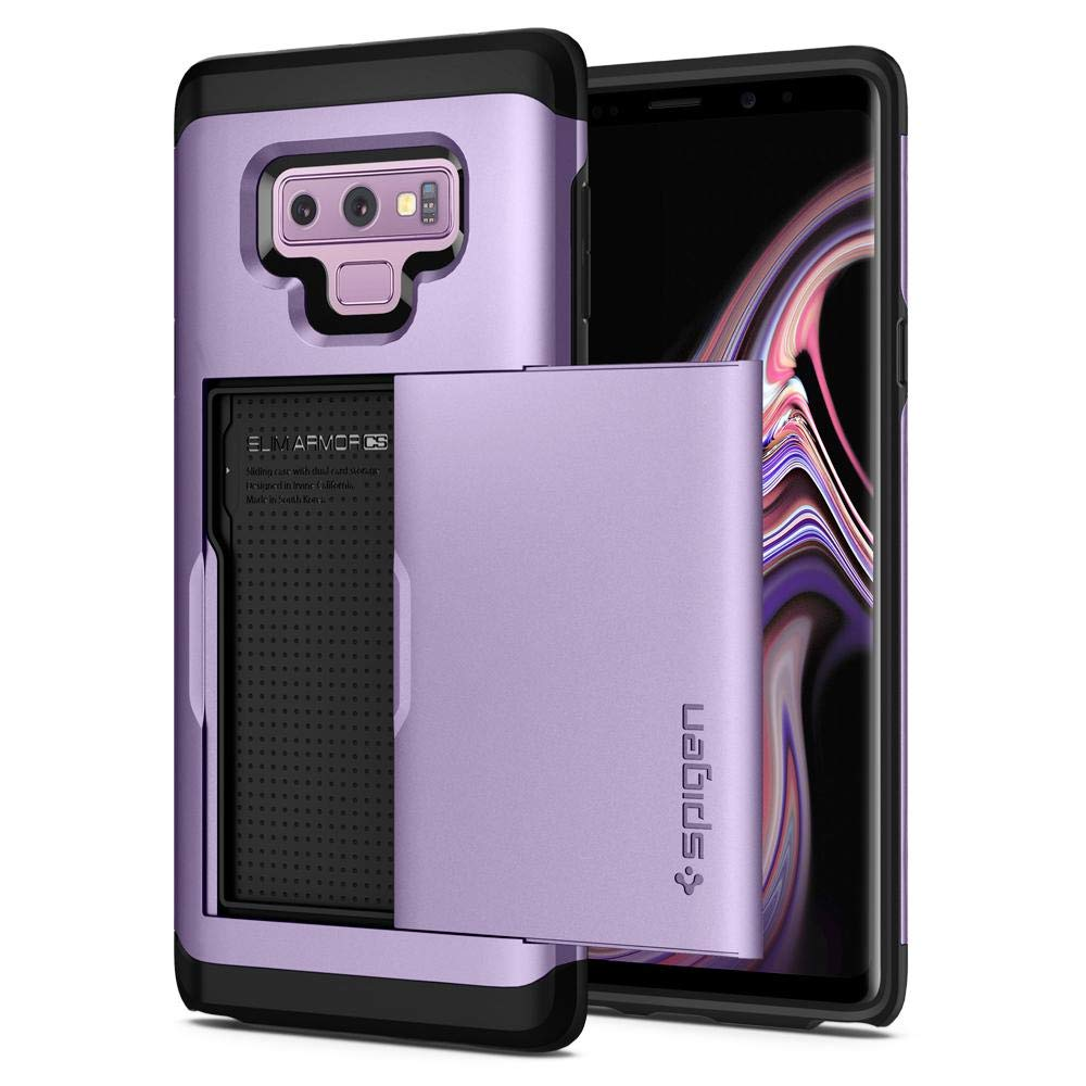 Spigen Galaxy Note 9 Case Slim Armor CS - Slim Dual Layer Wallet Design and Card Slot Holder for Samsung Galaxy Note 9 (2018) - Black 599CS24624
