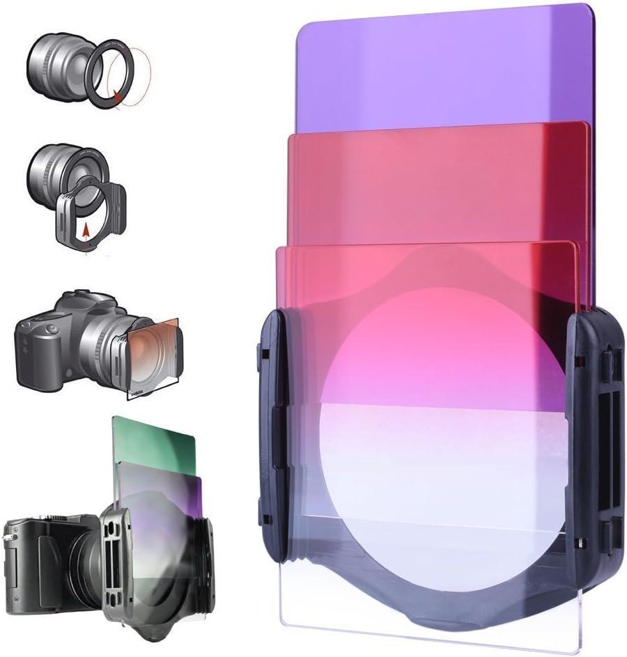 Filtros Camaras, Kit de 24 Filtros Cuadrados Compatibles con Cokin ...