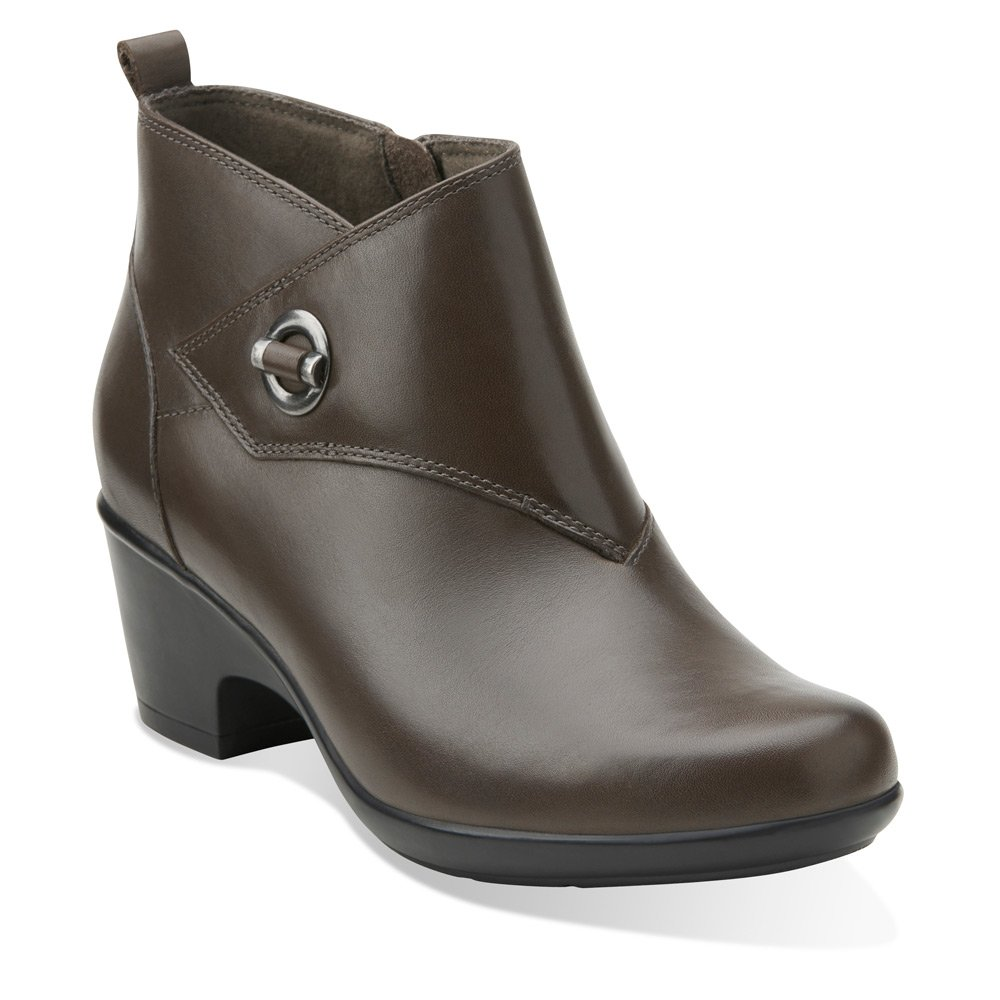 Amazon.com | CLARKS Women's Malia Surf Ankle Boot, Grey Leather, US 10 M |  Ankle & Bootie