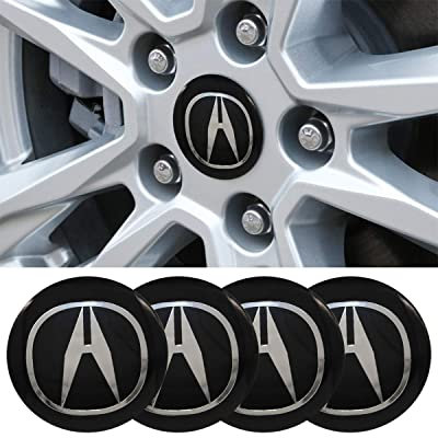 4 x 56.5mm Car Lettering BBS Wheel Center Cap Sticker Wheel Emblem Badge Logo Stickers (fit Acura): Automotive