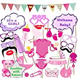 Baby Shower Photo Booth Prop Party Banner Bunting Newborn Monthly Ideas Gender Reveal Favors Supplies Decorations It's a Girl DIY Photography Selfie Birthday Gifts for 1st Mom Daddy to be