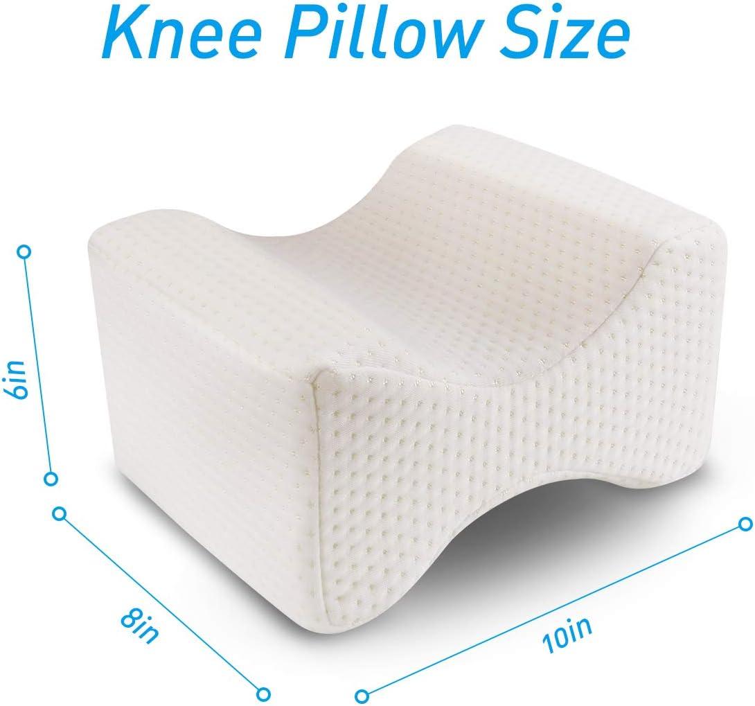 KKTICK Almohada Piernas Dormir Dormir Almohada para Las Piernas para la rodilla para ci/ático Pierna dolor de cadera Alivio de espalda