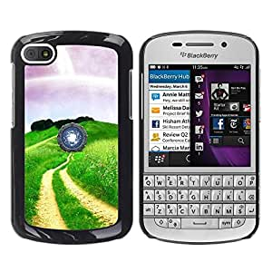 TopCaseStore / la caja del caucho duro de la cubierta de protección de la piel - Nature Beautiful Forrest Green 35 - BlackBerry Q10