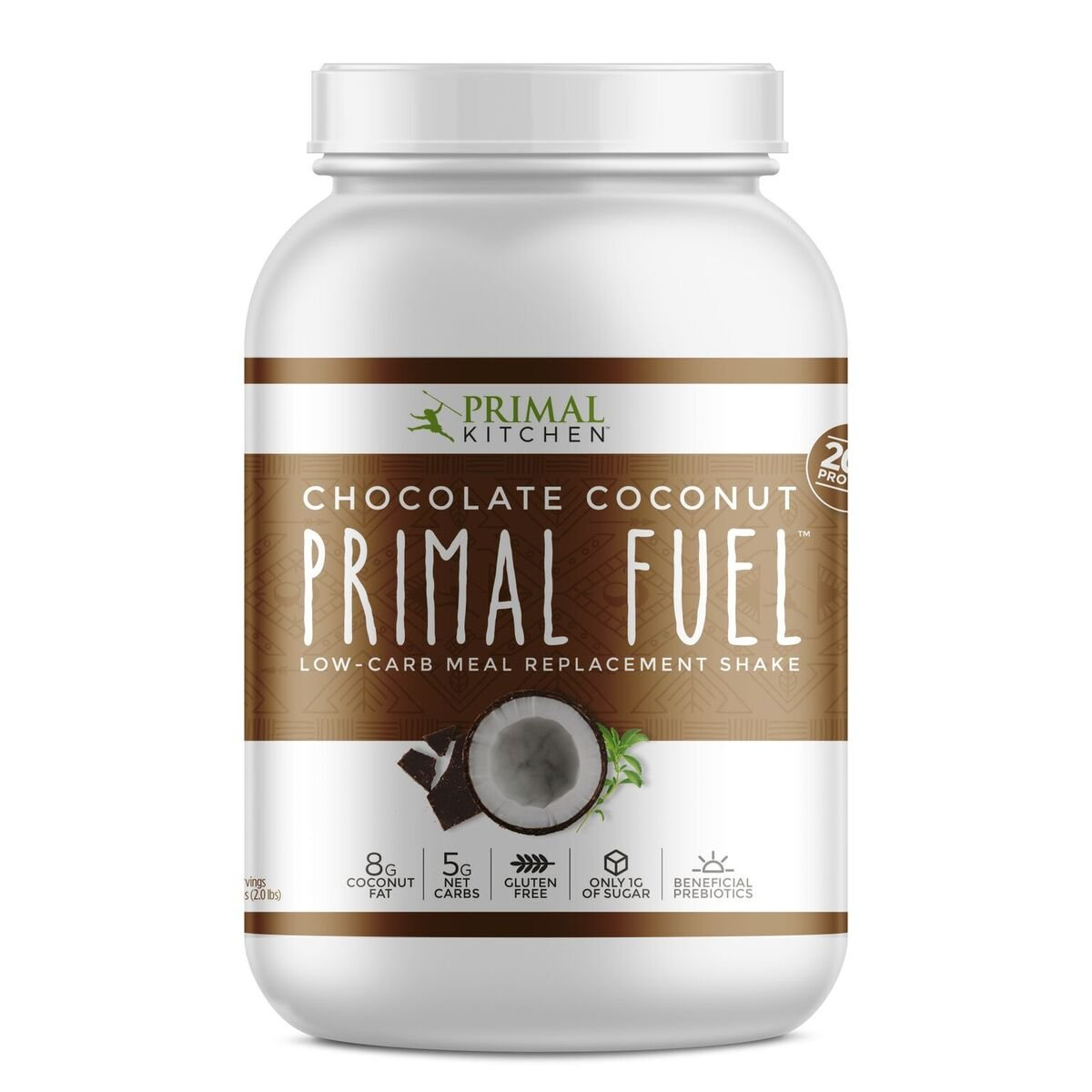Primal Kitchen - Primal Fuel Whey Protein Powder, Low Carb Meal Replacement Supports Weight Loss (Chocolate Coconut, 32 oz)