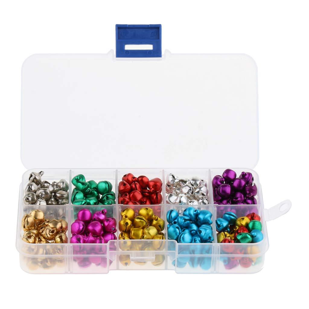 Campanellini 300 pezzi 8 mm 220 pezzi ca 6-12 mm Multicolore Jingle Bells Artigianato Fai-da-te Per Decorazioni Natalizie