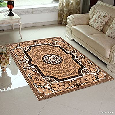 Allstar Berber with Brown Woven Traditional Aubusson Printed Area Rug