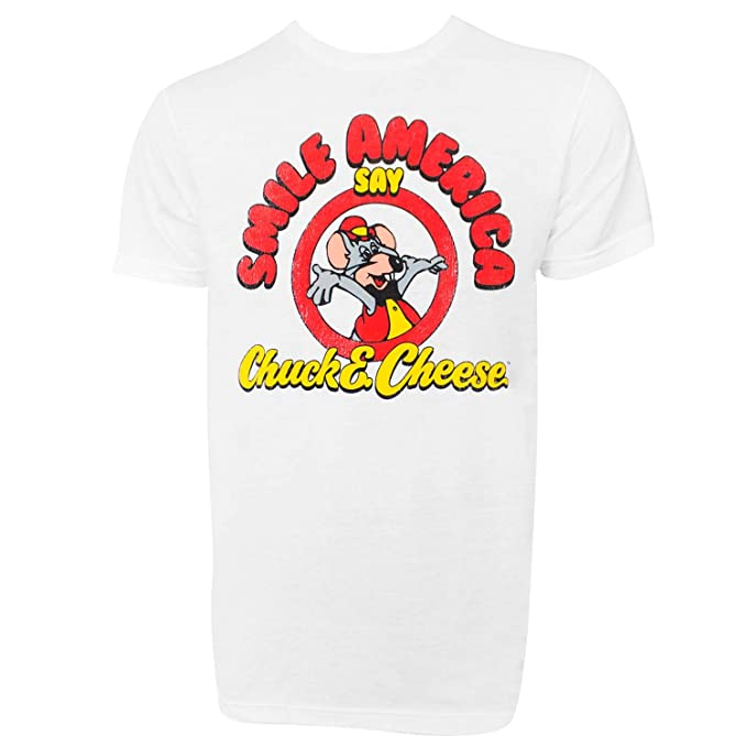 6f42407d7 Image Unavailable. Image not available for. Color: Chuck E. Cheese Smile  America Men's Tshirt Medium