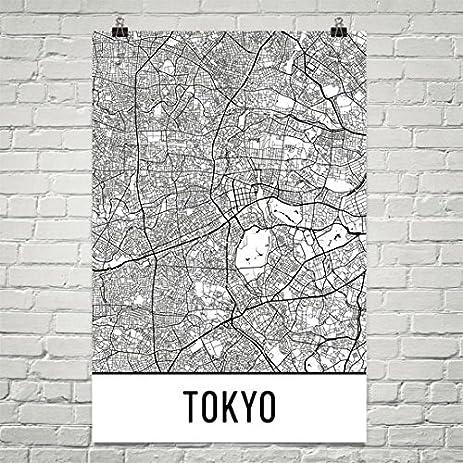 Amazoncom Tokyo Poster Tokyo Art Print Tokyo Wall Art Tokyo - Japan map poster