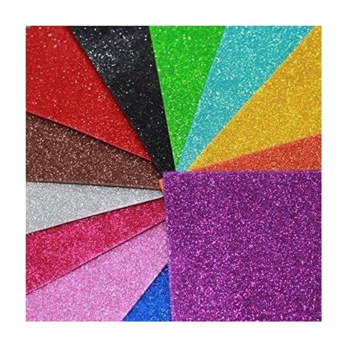 Non Sticky Assorted Coloured Glitter Foam Sheets Kids Arts