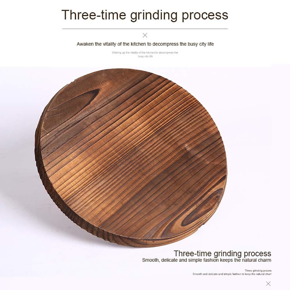 14 pollici XIYAO Copri pentola con coperchio in legno naturale per Wok in ghisa da 10 pollici 11,8 pollici 15,7 pollici