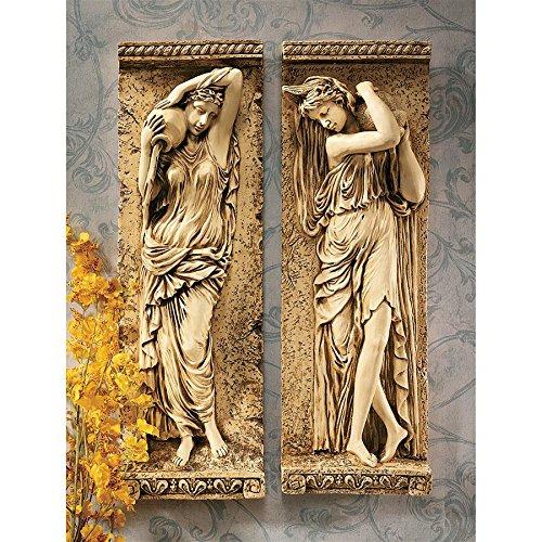 - Design Toscano Water Maidens Wall Friezes Set Includes: Dordogne and Seine