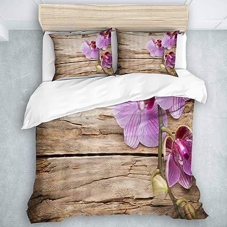Copripiumino Orchidea.Lonyci Set Copripiumino Con Federa Fiori Porpora Rosa Floreali