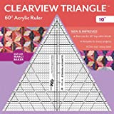 """Clearview Triangle™ 60° Acrylic Ruler―10"""""""