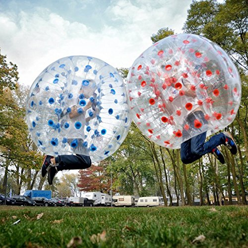 i-mesh-bean iMeshbean 2PCS Inflatable Bumper Bubble Soccer Ball Dia 5 FT/1.5M Human Hamster Ball for Adults and Kids M#301 USA by i-mesh-bean