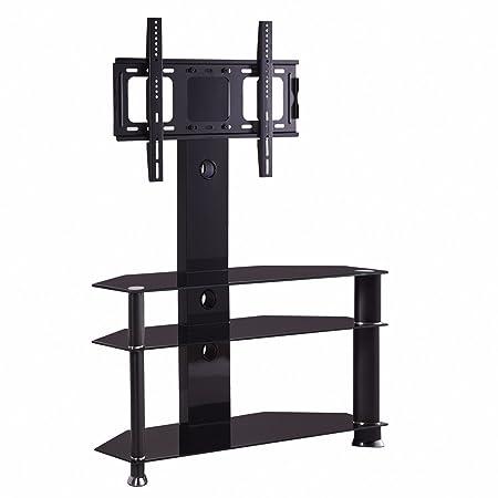 Soporte para televisor de 32 a 55 Pulgadas con Pantalla LCD de Plasma y Cristal Templado, Color Negro: Amazon.es: Hogar