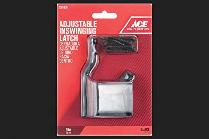 "Gate Latch Adj In 4""Blk"