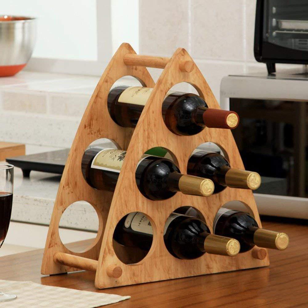 SED Estante de Vino para el hogar Portavasos - Goma Madera ...