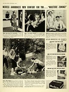 1939 Ad Modess Menstrual Pads Sanitary Napkins Feminine Care Products Vintage - Original Print Ad