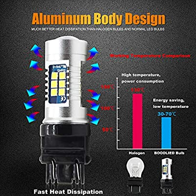 Boodled 2X Extremely Bright 3030 Chipsets 3056 3156 3057 3157 4157 LED Bulbs with Projector, Xenon White 6000~6500K 1200LM.: Automotive