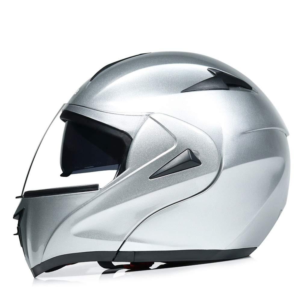Color : E blue-XL Motorcycle Helmet Motorcycle Helmet for Men Women Anti-fog Double Lens Helmet Racing Full Face Crash Helmet for Motorbike Motorbike Helmet