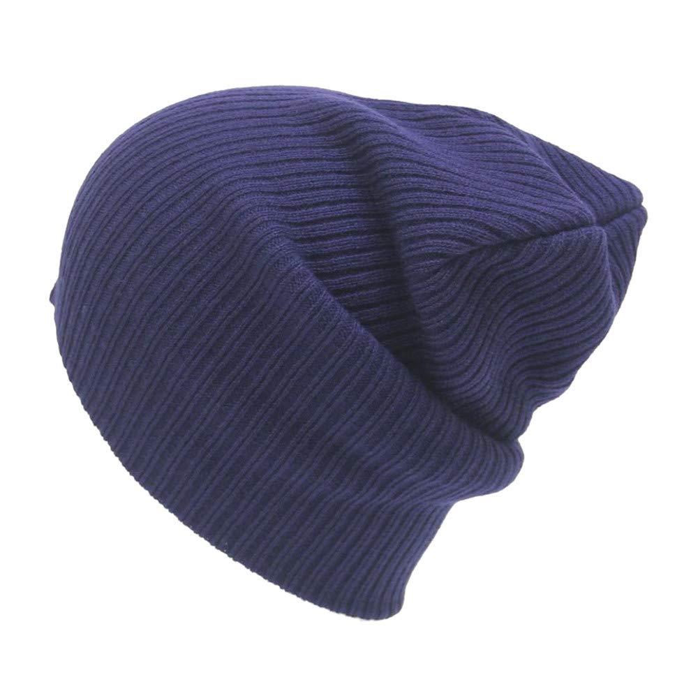 52e999b943e Amazon.com  Challyhope Unisex Winter Warm Solid Ski Knitted Crochet Baggy  Beanie Hat Cap Beret for Women Men (Green