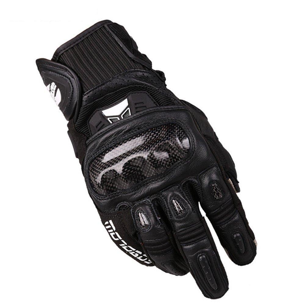 快適 オートバイクライミングハイキングハンティング釣りサイクリングアウトドアスポーツのためのタッチスクリーンオートバイフルフィンガーグローブ (色 : ブラック, サイズ : L) Large ブラック B07G15S6N6