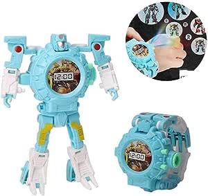 ساعة يمكن تحويلها الى رجل الي، ساعة 3 في 1 قابلة للتحويل الى روبوت، العاب تعليمية ابداعية للاطفال بعمر 3-12 سنة من ام انا