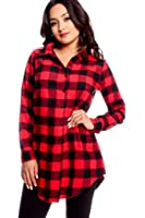 LOLLI COUTURE CASUAL PLAID STYLE BUTTON DOWN SHIRT