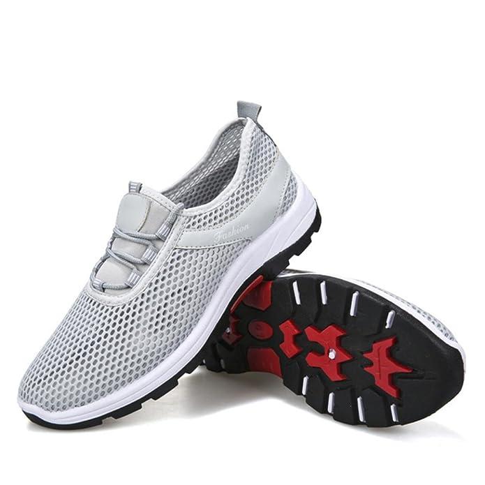 SOMESUN Unisex Casual Sneakers Sport Running Scarpe con Cinturini  Traspiranti Coppia Modelli Uomo e Donna Scarpe Sportive Cima Suola Morbida   Amazon.it  ... 52d7e357c65