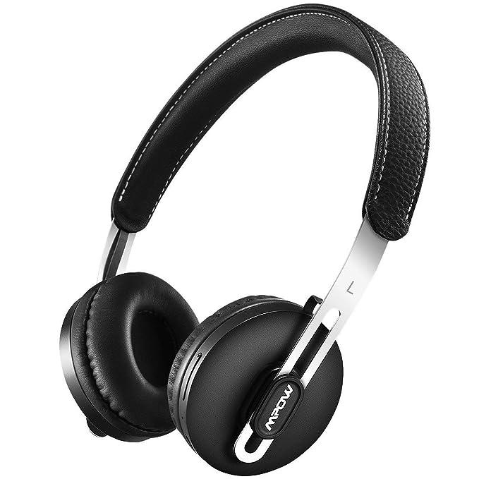 Mpow Auriculares Bluetooth Wireless & Wired Convertible, ligero en oreja Auriculares, estéreo auricular inalámbrico con micrófono para PC/teléfonos móviles: ...