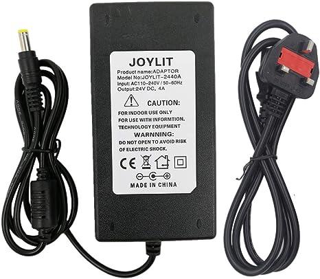 AC 100V-240V DC 24V 4A 96W Power Supply Charger Konverter Adapter For LED Strip