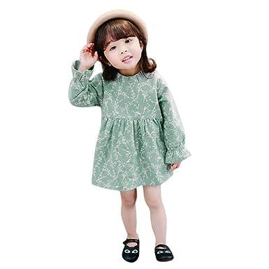 106d10dd56d5 Amazon.com  KONFA Toddler Baby Girls Floral Print Dresses