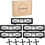 Neutop 5pcs Ultra Performance Filters+5pcs Side Brushes Kit Replacement for Neato Botvac Connected D3 D5 D7, Botvac D Series D75 D80 D85, and All Botvac Series