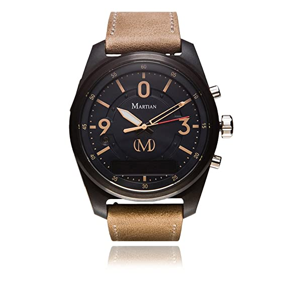 326c4fb7b0f6d Martian mVoice Smartwatches with Amazon Alexa – Analog + Voice (B01M5B9SVG)