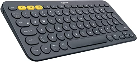 Amazon Com Logitech K380 Multi Device Bluetooth Keyboard Windows Mac Chrome Os Android Ipad Iphone Apple Tv Compatible With Flow Cross Computer Control And Easy Switch Up To 3 Devices Dark Grey Computers