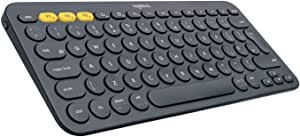 Logitech K380 Multi-Device Bluetooth Keyboard – Windows, Mac, Chrome OS, Android, iPad, iPhone, Apple TV Compatible – with Flow Cross-Computer Control and Easy-Switch up to 3 Devices – Dark Grey