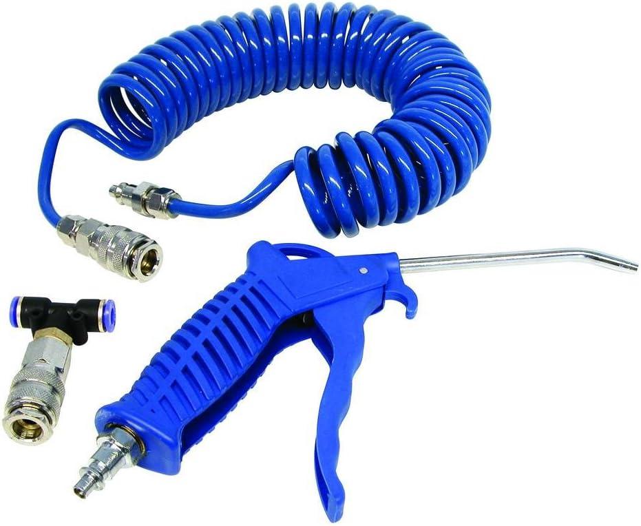 Carpoint 0682001 – Pistola de Aire comprimido y Tubo en Espiral (5 m)