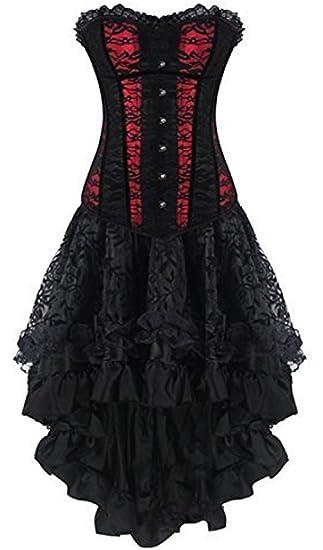 Shaper Kleid Body Moulin Burleske Schwarz Steampunk Rouge Corsagenkleid Corsage TlJ1FKc