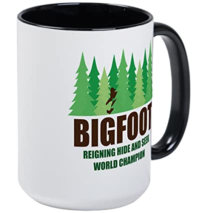 a7bd5eea Image Unavailable. Image not available for. Color: CafePress - Bigfoot  Sasquatch Hide And Seek World Champion Mug - Coffee ...