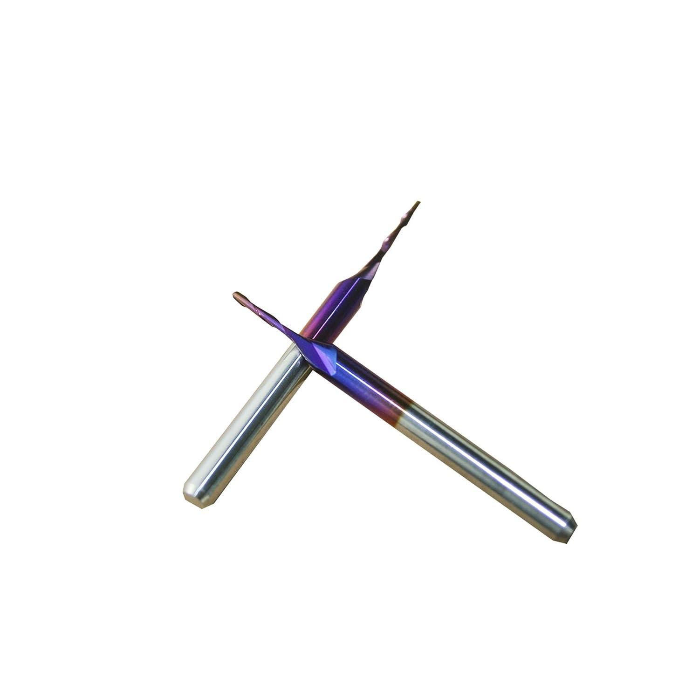 1 4 AHMI 10 ST/ÜCKE 1//8 Zwei Fl/öte Ball Nose End Super Nano Blau Mantel Spiral Ball Nose Schaftfr/äser Bits 3.175