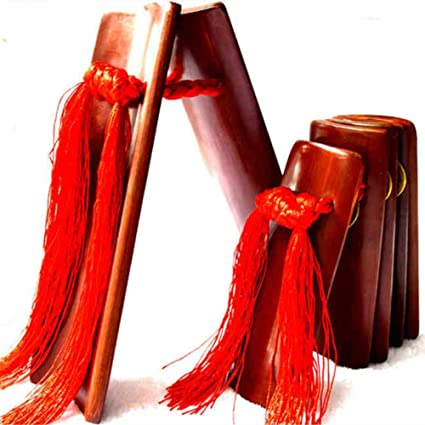 Miwayer Professional Chinese Kuaiban,China Allegro Clapper Bamboo Traditional Instrument Festival Performance Props,Percussion Tradition Music Instruments Rap Drama Adult, Brown