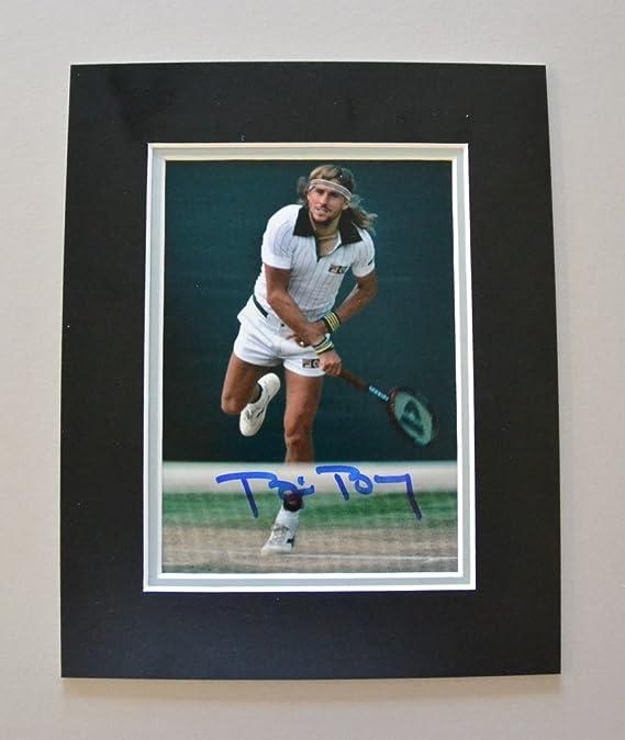 Bjorn Borg Signed 10x8 Framed Photo Display Wimbledon Autograph Memorabilia