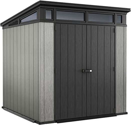 Keter - Caseta de jardín exterior Artisan 77, Color gris: Amazon ...