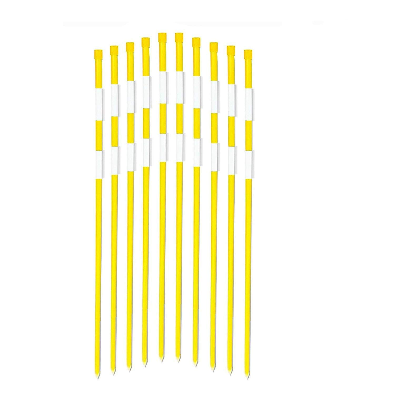 FiberMarker 48-Inch Reflective Driveway Markers Driveway Poles for Easy Visibility at Night 5/16 Inch Diameter Yellow,20pack by FiberMarker