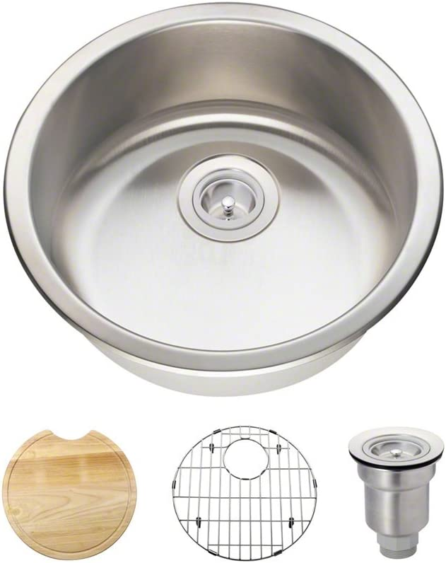 465 18 Gauge Stainless Steel Kitchen Ensemble (Bundle - 4 Items: Sink, Basket Strainer, Sink Grid, and Cutting Board)