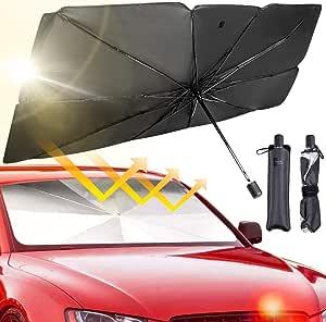 RUIXIANG Universal Car Sun Shade Umbrella Cover Carpa de Tela UV Impermeable Ropa de autom/óvil m/óvil Silver