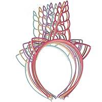 Jmitha Unicornio Cuerno Diadema con Flores Artificiales Accesorio
