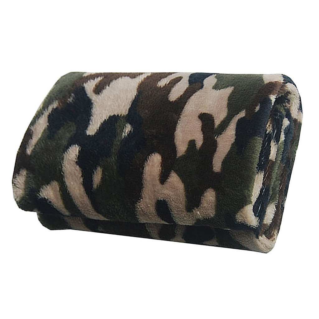 Fashion and Unique Super Soft Flannel Pet Puppy Kitten Blanket Cushion Pet Sleeping Bed Mat Green Camouflage S